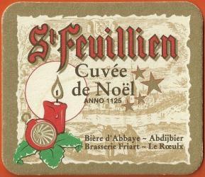 Cuvée de Noël Brasserie St-Feuillien   Belgian Strong Ale 9% ON TAP! @ Red Fox