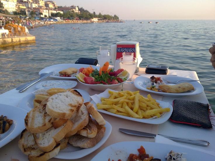 Turkish Raki Turkish Tapas Meze Seaside Buyukcekmece