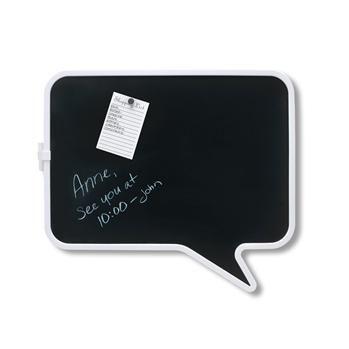 "Umbra Talk Chalk Bulletin Board 17"" X 14.5"" Black/White | Kitchen Stuff Plus  #KSPPin2Win"