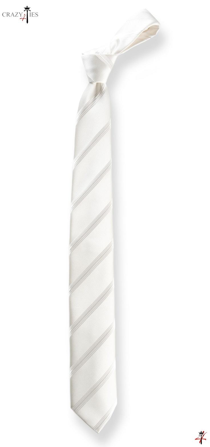 Bellissima cravatta da Cerimonia in Seta Bianca