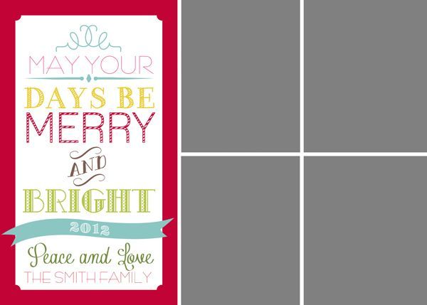 25 Best Ideas about Free Christmas Card Templates – Holiday Card Template
