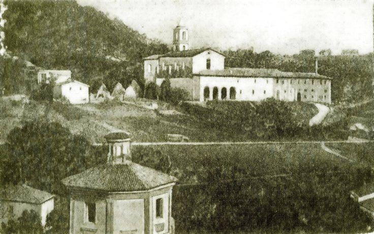 Anni 10 - Il convento degli Zoccolanti sulla collina di Ferbole, con in primo piano la chiesa di Santa Maria delle Tinte
