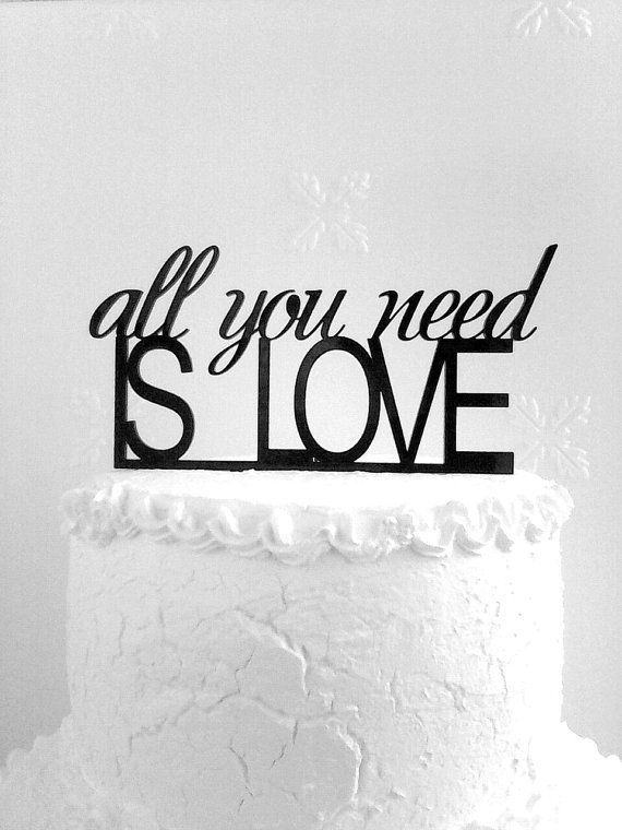 All You Need is Love Cake Topper  Custom by CakeTopperDesign
