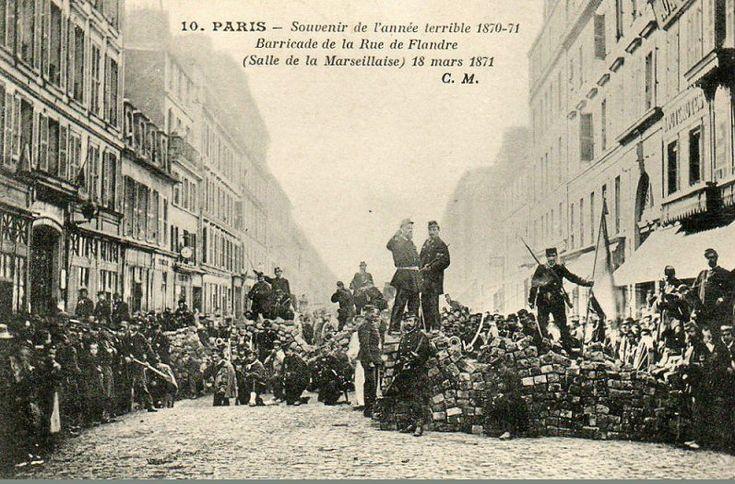 #photo Barricade rue de Flandre le 18 mars 1871 #PEAV @Menilmuche @HV10_Paris10 @tz2p