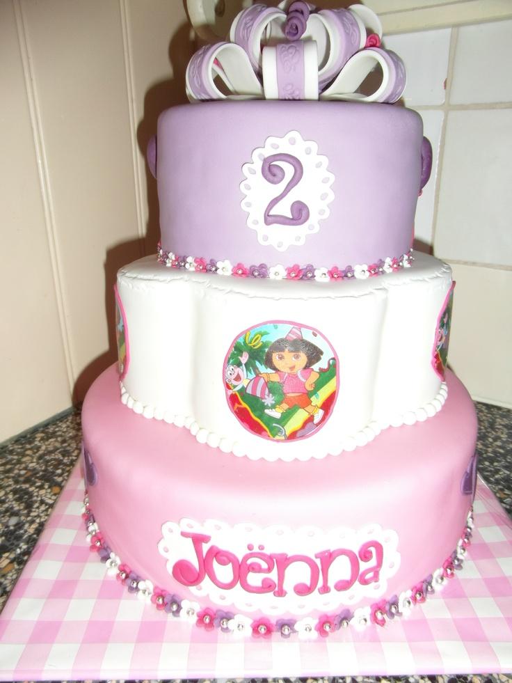 Dora taart/ princess cake