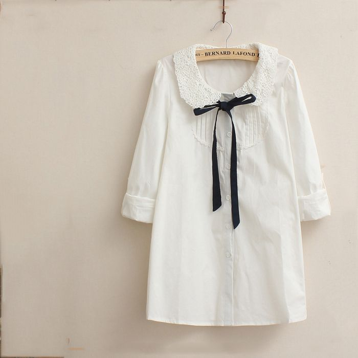 Lace Baby Collar Shirt (B0071)    #caterpillar #barnard #lafond #bernardlafond #cottage glaze #groove #moda #shop #shopping #blouse #womenblouse #girlsblouse #shop