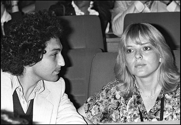 Michel Berger and France Gall attend the premiere of Robert Charlebois show at Palais Des Congres venue in Paris in 1979