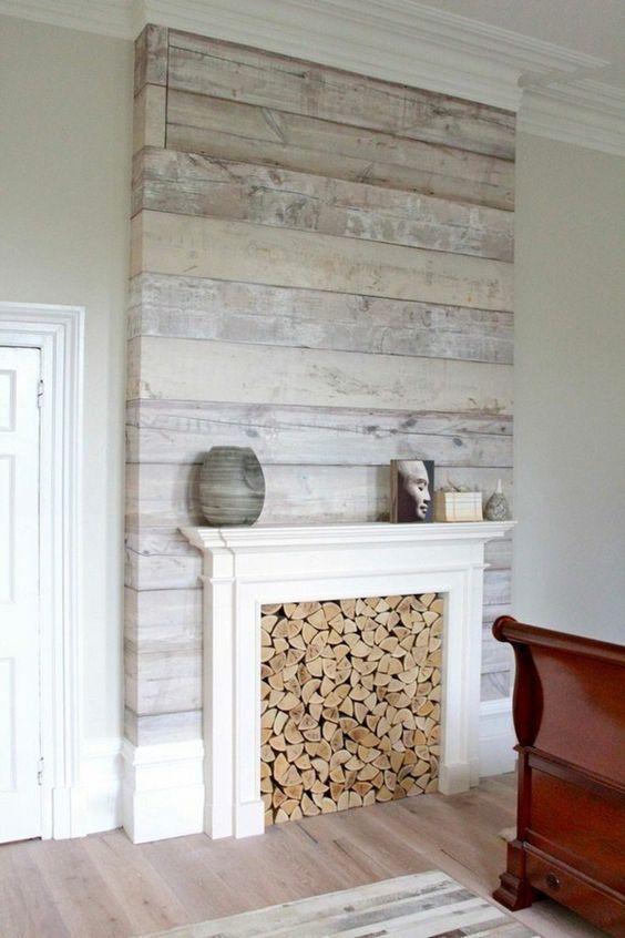 Holz Tapete Fur Gemutliches Ambiente Moderne Wohnzimmer Deko Ideen 2017 Mehr