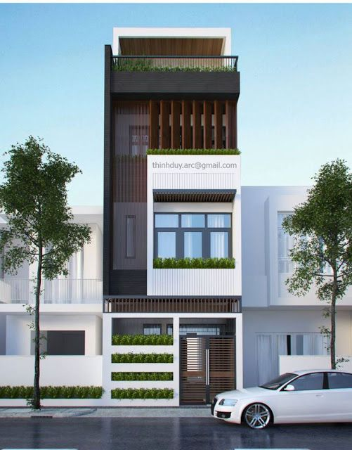Front Design Of Narrow House Part - 16: House Facades, House Exteriors, Duplex House Design, Small House Design, Narrow  House, Town House, House 2, House Elevation, House Front