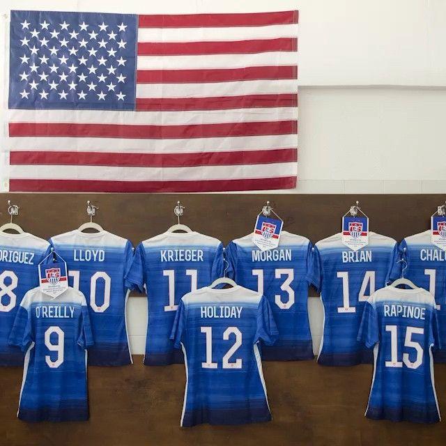 All set for USA vs.Iceland, Algarve Cup, March 9, 2015. (U.S. Soccer/Instagram)
