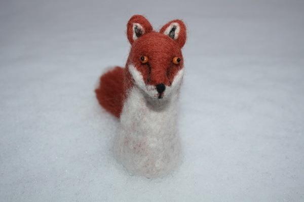Fox  felted objectFoxes Felt, Felt Object, Felties Fantastic, Wet Felt