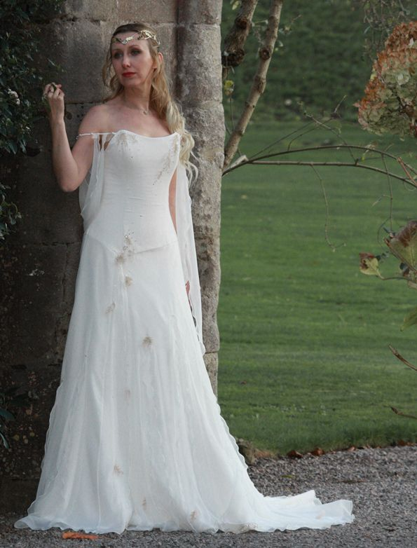 Beautiful Medieval Inspired Wedding Dress By Rivendell Bridal In The UK