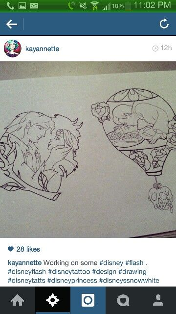 I want the beauty and the beast tattoo!