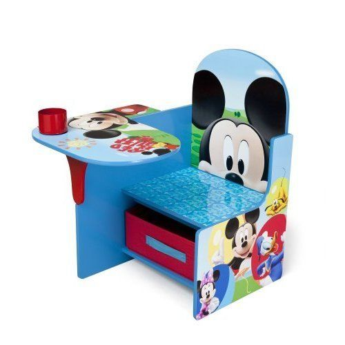 Kids Desk Chair w/ Storage Bin Disney Mickey Mouse Reading Eating Table Boys NEW #DeltaBrand