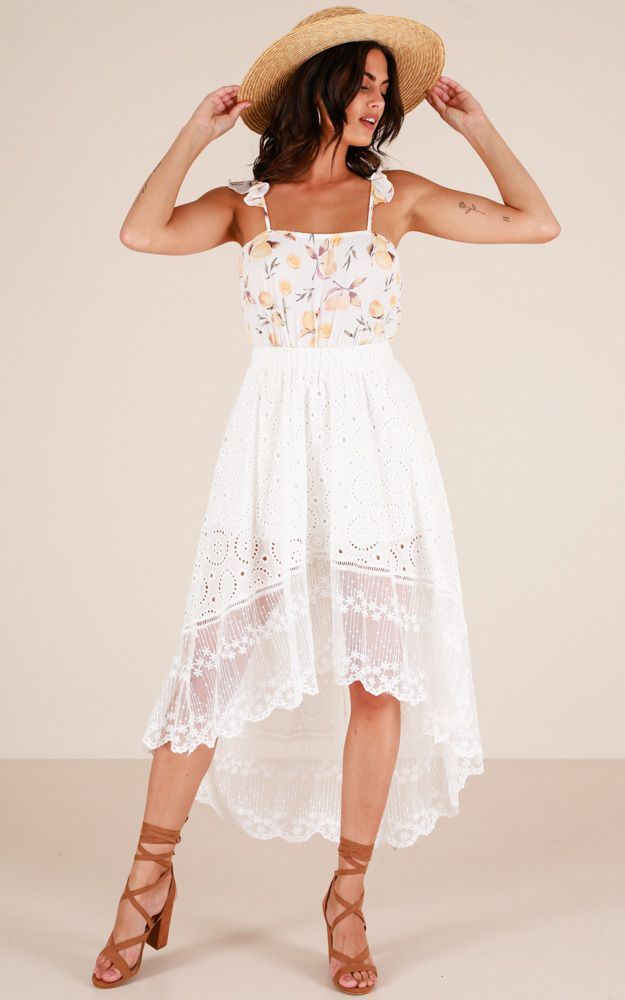 Showpo With Open Arms skirt in white - 10 (M) Skirts