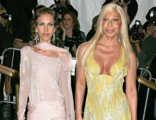 Allegra Beck and Donatella Versace Daughter Allegra inherited half the company, not all as said in the movie