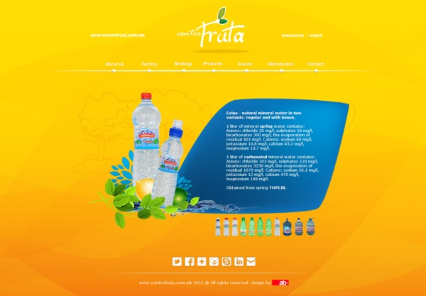 CentroFruta Web Design by Boban Aleksovski, via Behance