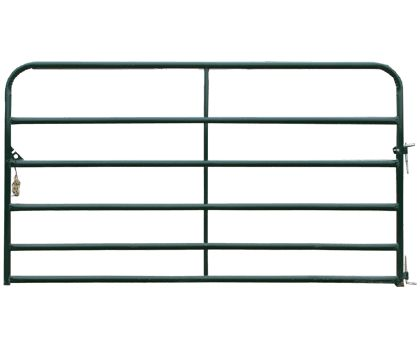 Available in a multitude of lengths, the powder-coated Economy gate is an attractive choice for driveways, pastures, or other non-crowding areas.