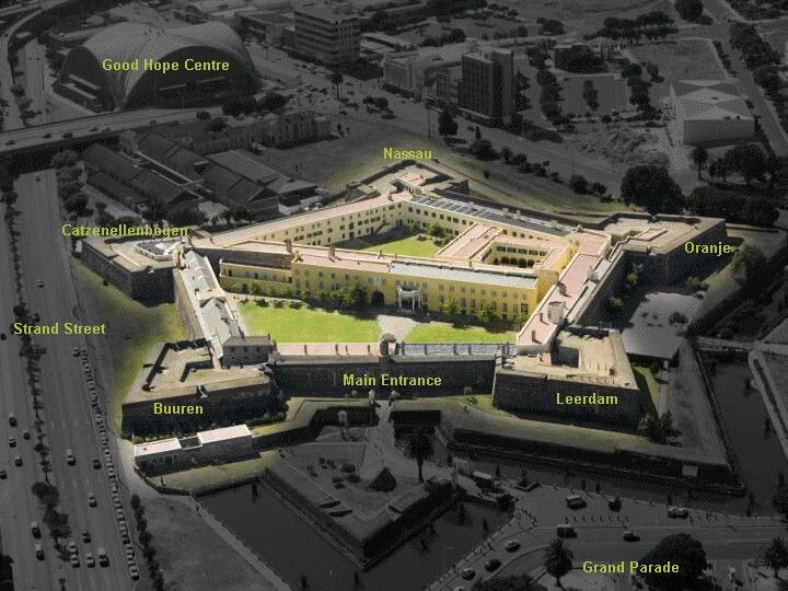 The Castle of Good Hope is the oldest surviving building in South Africa.Built between 1666 and 1679, this pentagonal fortification replaced a small clay and timber fort built by Commander Jan van Riebeeck in 1652 upon establishing a maritime replenishment station at the Cape of Good Hope (Cape Town) for the Dutch East India Company, better known as the VOC (Verenigde Oos-Indische Compagnie).On 26 April 1679 the five bastions were named after the main titles of Willem, the Prince of…