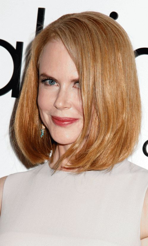 Nicole Kidman's Strawberry Blonde Bob Hairstyle, 2013