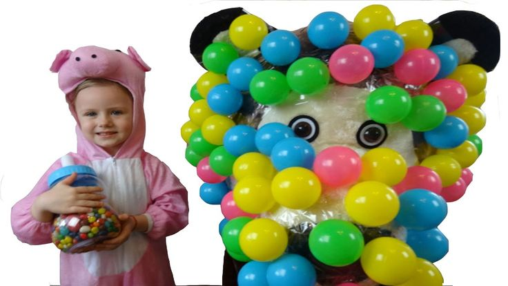 LEARN COLORS - Nursery Rhymes & Johny Johny Yes Papa  Candy Baby Bottle & Balloons  Simple Songs