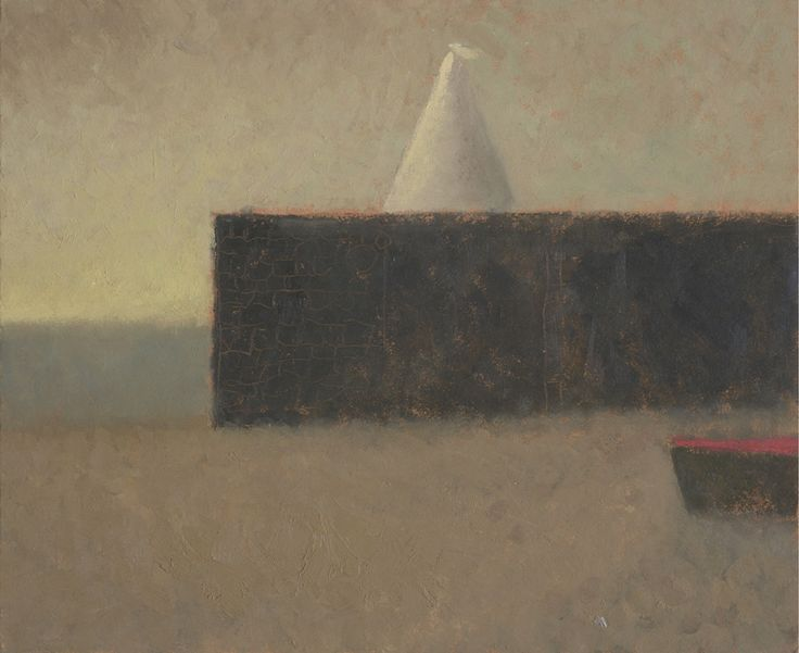 Nicholas Turner 'White Sail' oil on board