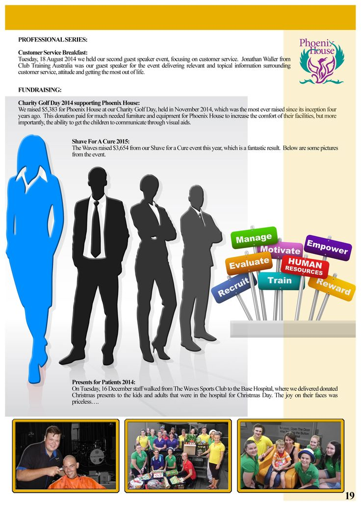 Annual Report Page 19 (Human Resources Report). Would you like a design like this for your business? Email: art3sian@gmail.com