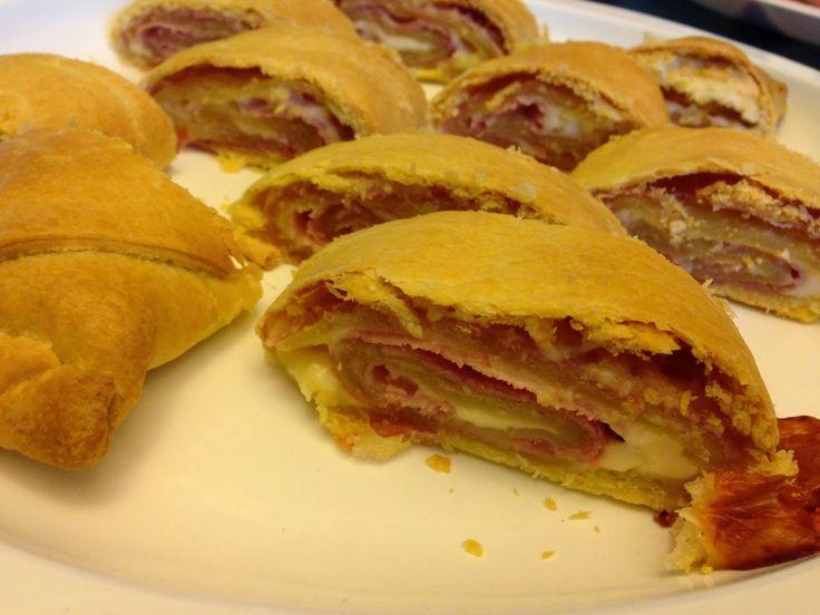 ⇒ Bimby, le nostre Ricette - Con e Senza Bimby, Tortino di Pasta Brisè con Prosciutto Cotto e Formaggio
