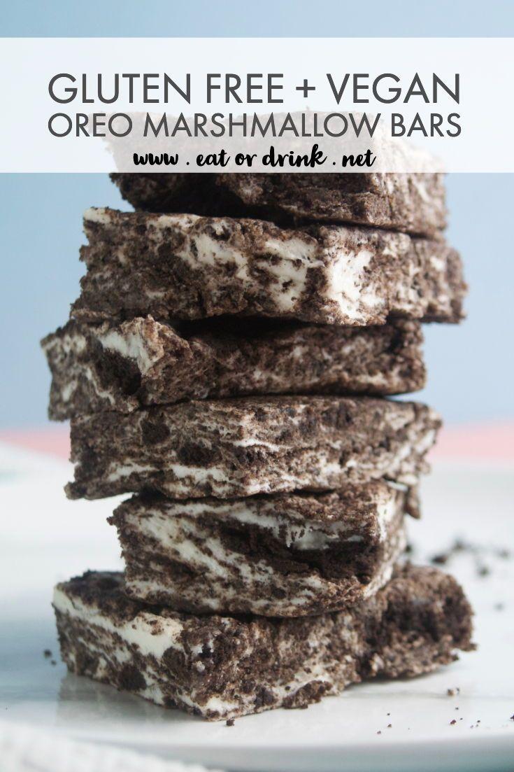 Oreo Marshmallow Bars Recipe Recipes With Marshmallows Oreo