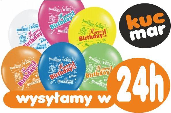 Balony urodzinowe Happy Birthday 30 40 50 5 sztuk