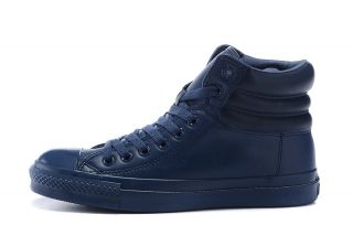 Converse leather full blue