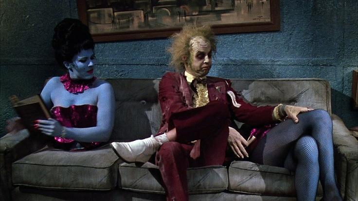 """Michael Keaton in """"Beetlejuice"""" (Tim Burton) 1988."""