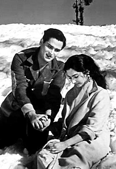 Shammi Kapoor and Saira Banu.