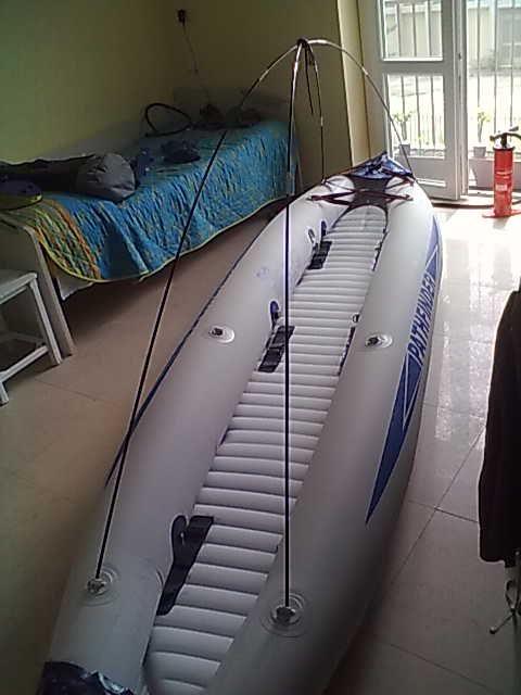 Kayak Pathfinder - boat awning project