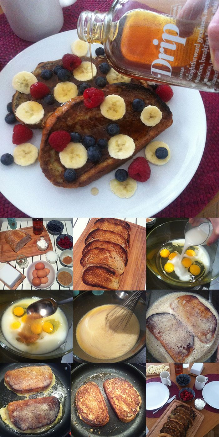 French Toast. Who can resist the delicious bread dipped in