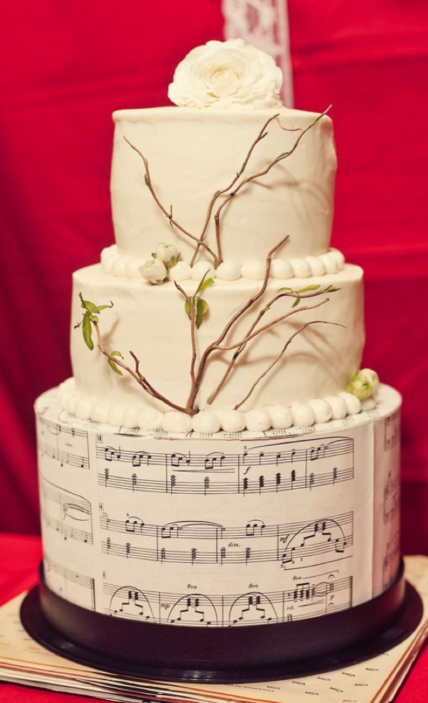 music wedding cake themed wedding cake as seen on ruffledblog 17668