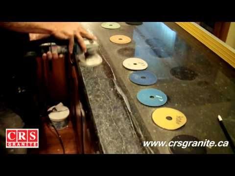 How to Hand Polish Granite Countertops - YouTube