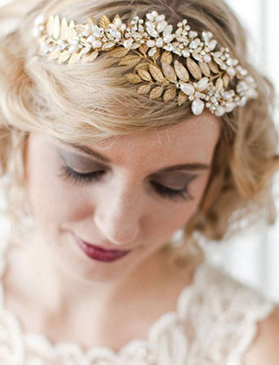 Sparkly Grecian headpiece for a vintage or Downton Abbey wedding