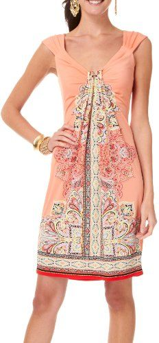 40% Off was $60.00, now is $36.00! London Times Gathered Front Batik Print Dress