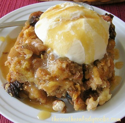 My family loves bread pudding and this apple bread pudding is a favorite. I am not fond of bread that has been frozen so I used leftover hot dog and hamburger buns to make this pudding. You can u...