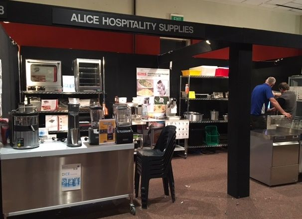Bonn Appliances with Alice Hospitality Supplies at Alice Springs catering trade fair, June 2016