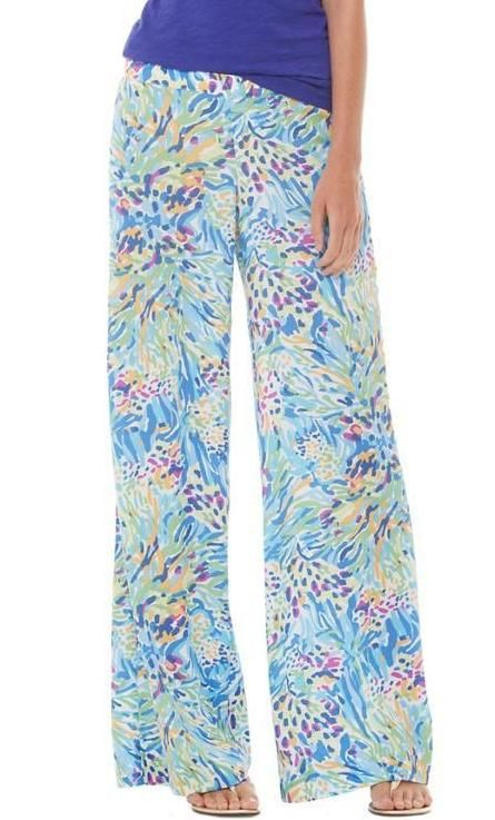 Lilly Pulitzer Middleton Palazzo Wide Leg Pant. Great to throw on in the evenings. Add a cute white top and you are good to go.