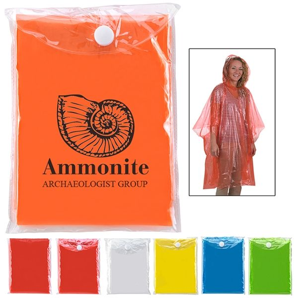 Don't forget your poncho if it rains!! Promotional Disposable Poncho | Customized Disposable Poncho | Logo Ponchos
