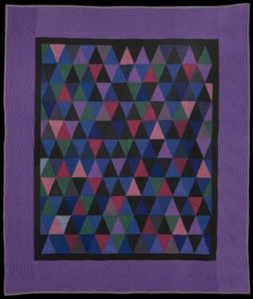 Thousand Pyramids Quilt...American, Ohio, Holmes County, Amish, about 1930