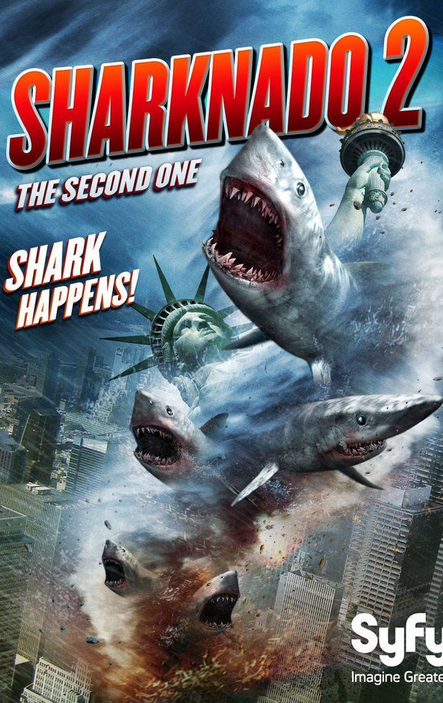 Sharknado 2: The Second One (TV Movie 2014) Yep just in case you didn't know there is another one coming. Better warn the C list celebs they are Sharknado magnets.