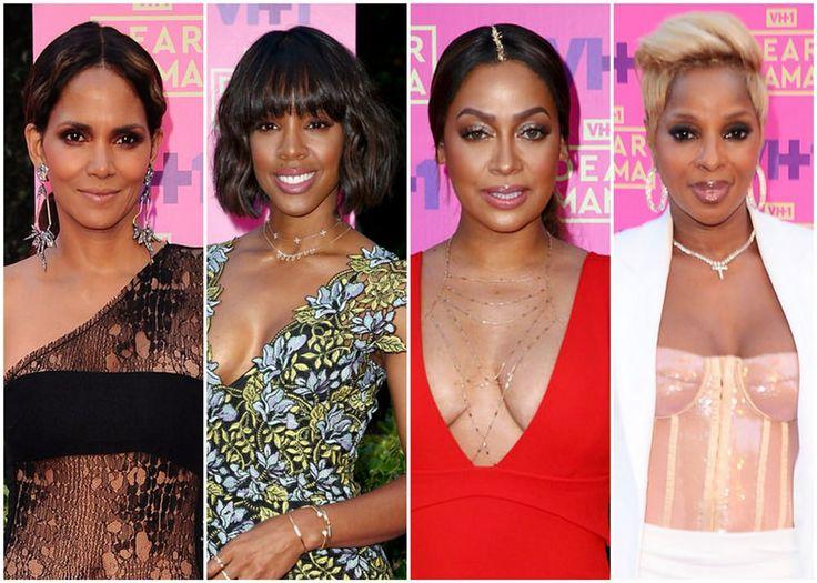 Halle Berry Kelly Rowland La La Anthony  Mary J. Blige at VH1s Dear Mama Event