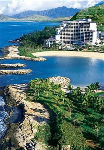 JW Marriott Ihilani Resort & Spa at Ko Olina, Oahu, Hawaii-When we lived on Oahu, the kids and I spent an afternoon on this beach!!