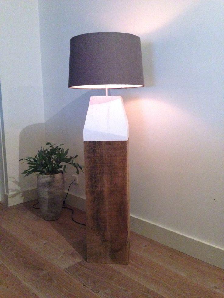 Strand / Meer paal - hout, lamp, kap - DIY