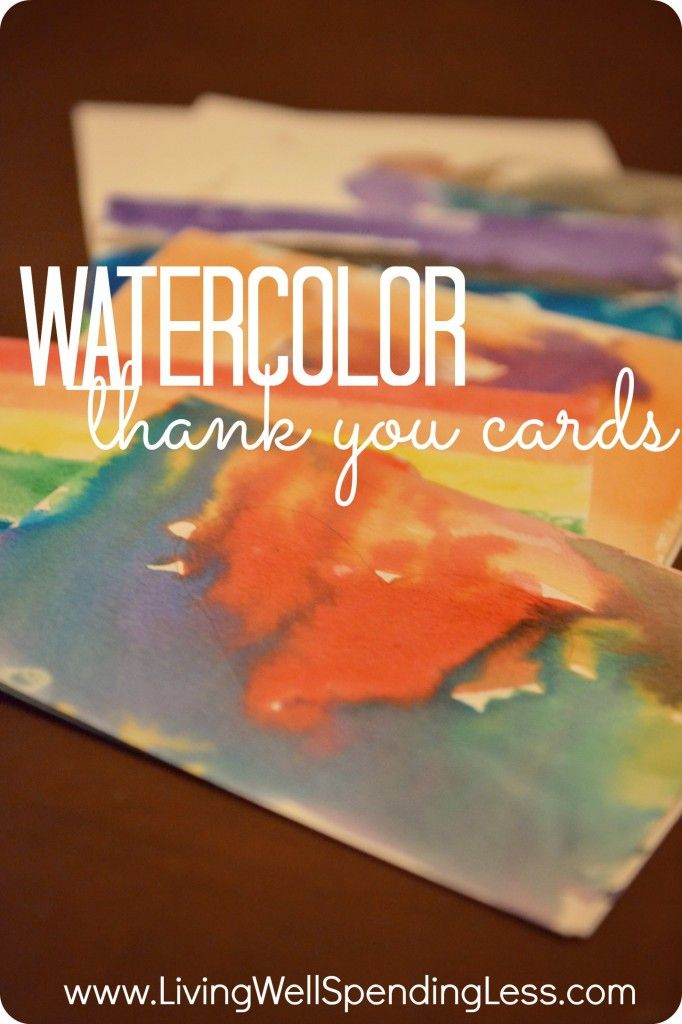wedding thank you cards time limit%0A DIY Watercolor ThankYou Cards