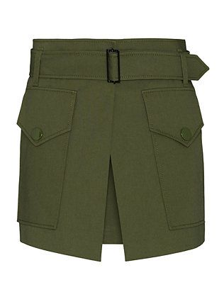 Barbara Bui Two Pocket Military Skirt